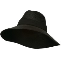 Dressy - Black Polypropylene Braid Panama Hat