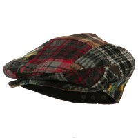 Ivy - Multi Men's Plaid Patchwork Ivy Cap