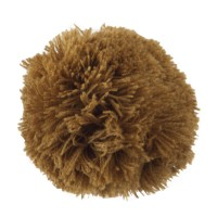 Pin , Badge - Brown Pom Pom Yarn Alligator Clip