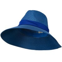 Dressy - Blue Polypropylene Braid Panama Hat
