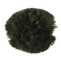 Pin , Badge - Olive Pom Pom Yarn Alligator Clip
