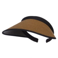 Visor - Brown Toyo Braid Clip On Paper Visor
