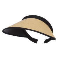 Visor - Khaki Toyo Braid Clip On Paper Visor