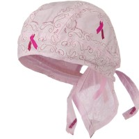 Wrap - Paisley Ride for a Cure Ribbon Headwrap