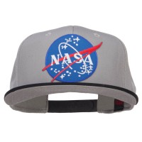 Embroidered Cap - Black Grey NASA Patched Two Tone Snapback
