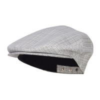 Ivy - Grey Men's Plaid Snap Back Ivy Cap