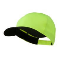 Ball Cap - Yellow Black Poly Twill Neon Cap