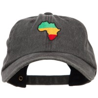 Embroidered Cap - Black Rasta Africa Embroidered Cap