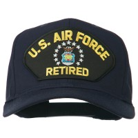 Embroidered Cap - Navy US Air Force Retired Patched Cap