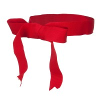Band - Red Ribbon Bow Hat Band