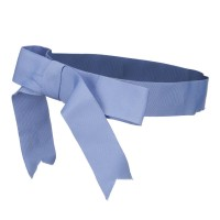 Band - Sky Blue Ribbon Bow Hat Band