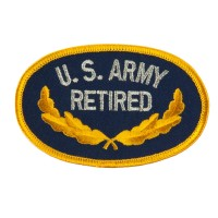 Patch - Army Retired Embroidered Patch