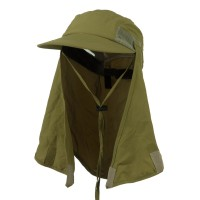 Flap Cap - Khaki Removable Flap Caps