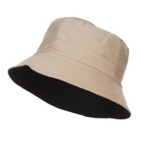 Bucket - Beige Black Men's Reversible Bucket Hat