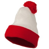 Beanie - Waldo Costume Red White Long Beanie for