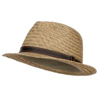 Fedora - Natural Straw Fedora Hat