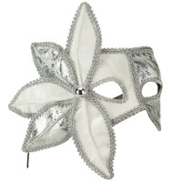Face Mask - Silver Side Bow 2 Tone Eye Mask