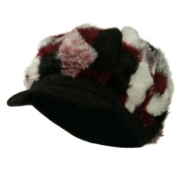 Newsboy - Red Faux Fur Suede Bill Hat