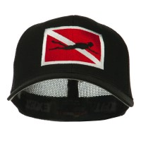 Embroidered Cap - Black Scuba Embroidered Cap