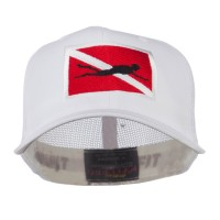 Embroidered Cap - White Scuba Embroidered Cap