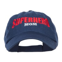 Embroidered Cap - Navy Superhero Mom Embroidered Cap