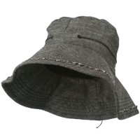 Bucket - Black Women's Stitching Bucket Hat