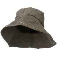 Bucket - Brown Women's Stitching Bucket Hat
