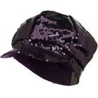 Newsboy - Purple Sequin Newsboy Cap