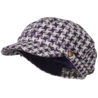 Newsboy - Purple Star Newsboy Hat