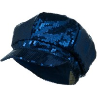 Newsboy - Blue Sequin Newsboy Cap