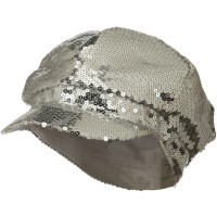 Newsboy - Silver Sequin Newsboy Cap
