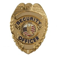 Patch - Gold Security Stock Metal Badges