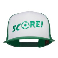 Embroidered Cap - Kelly Soccer Score Embroidered Cap