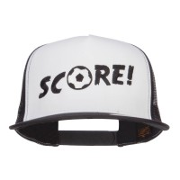 Embroidered Cap - Black Soccer Score Embroidered Cap