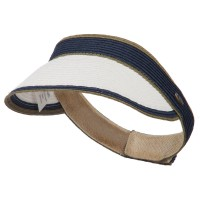 Visor - White Black UPF 50+ Toyo Adjustable Visor