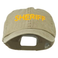 Embroidered Cap - Khaki Sheriff Letter Embroidered Cap