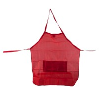 Towel, Apron - Red Stylist Apron with Waist Tie String