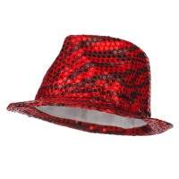 Fedora - Red Sequin Zebra Fedora