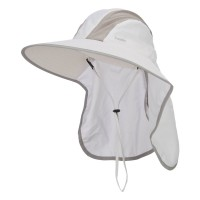 Outdoor - White Talson UV Large Bill Flap Hat