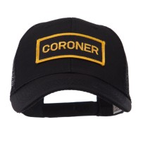 Embroidered Cap - Coroner Text Law Forces Patched Mesh Cap