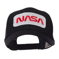 Embroidered Cap - NASA 2 Text Law Forces Patched Mesh Cap