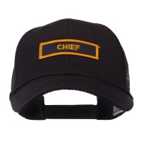 Embroidered Cap - Chief Text Law Forces Patched Mesh Cap