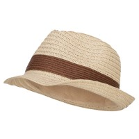 Fedora - Natural Brown Women's Toyo Braid Fedora Hat