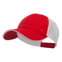 Ball Cap - Red Athletic Two Tone Mesh Cap