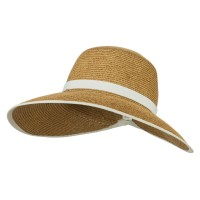 Visor - White Trim UPF 50+ Ribbon Trim Gardening Hat