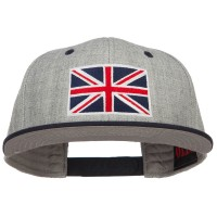 Embroidered Cap - Navy Grey United Kingdom Flag Two Tone Cap