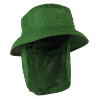Flap Cap - Green UPF 50+ Sun Block Bucket Flap Hat