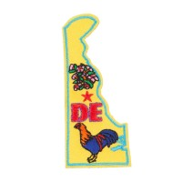 Patch - Delaware USA State Embroidered Patches