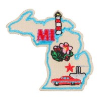 Patch - Michigan USA State Embroidered Patches