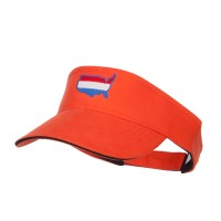 Visor - Orange Black United States Embroidered Visor